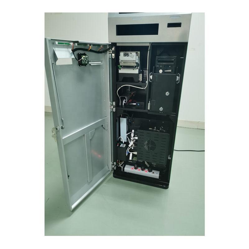 Mini desktop card dispenser kiosk used in office with Windows system