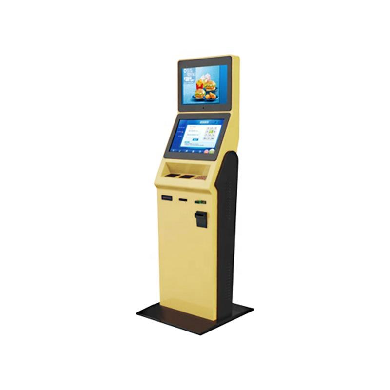 Hotel check in kiosk with LED touchscreen for information inquiry