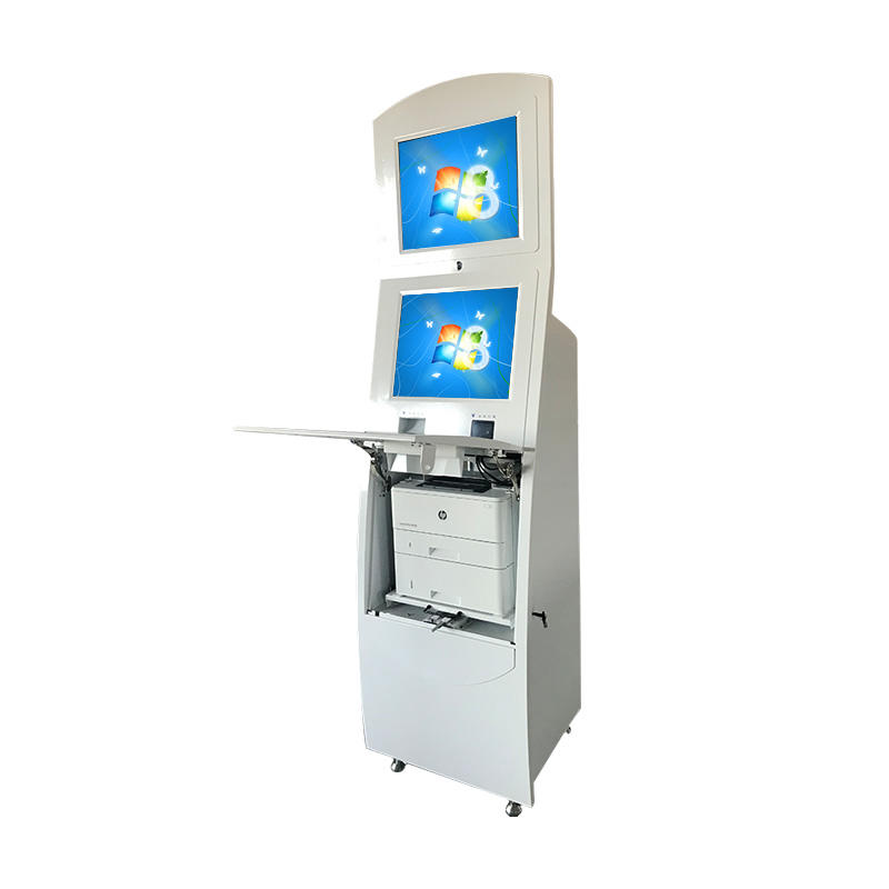 Windows system self service visa kiosk with A4 laser printer used in airport
