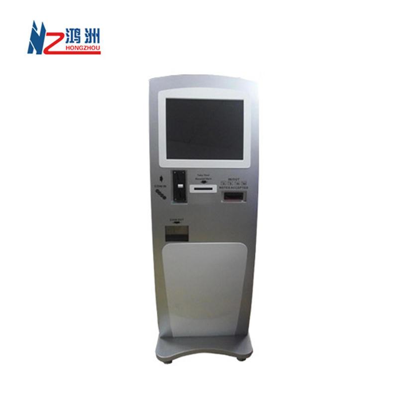 LED multimedia display self-service touchscreen Kiosk in hotel lobby