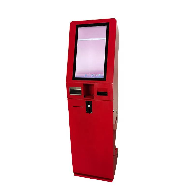 21.5 Inch Self Service Ordering Kiosk POS System Cash Acceptor Machine Payment Kiosk for fast food restaurants
