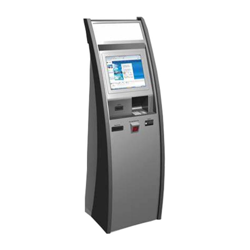 digital signage self service check printing kiosk terminal