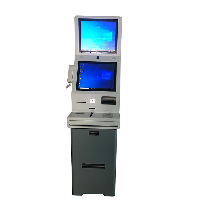 Floor stand 21.5 inch self service touch screen check in kiosk for hotel