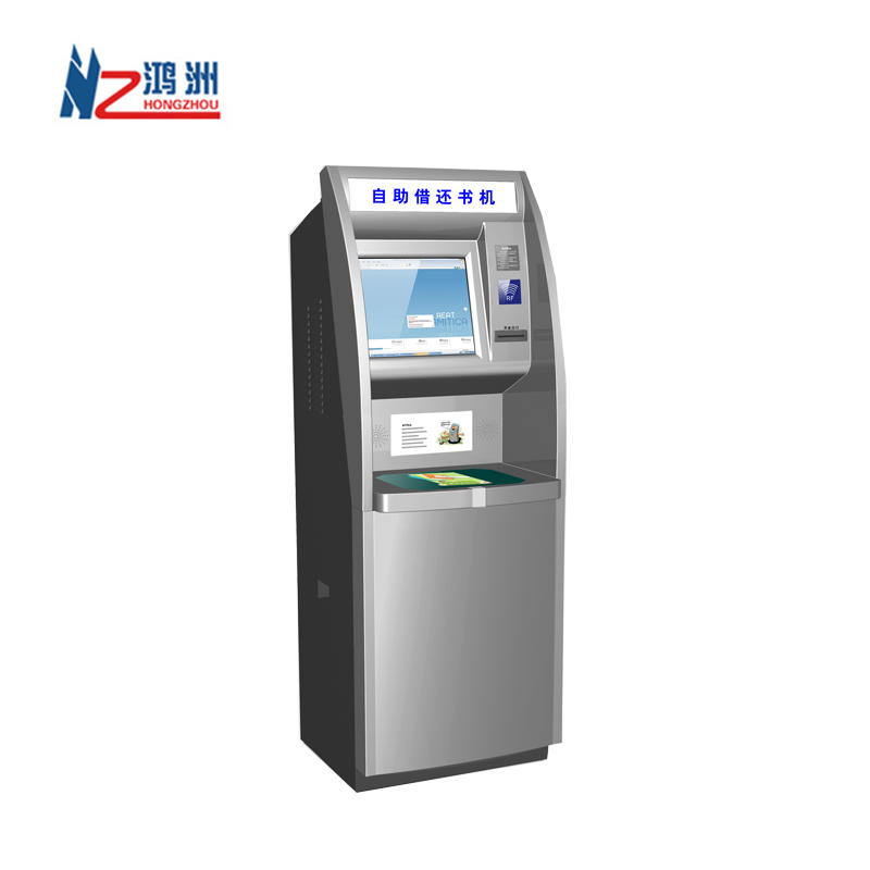 Free standing order display touch screen bus ticketing kiosk