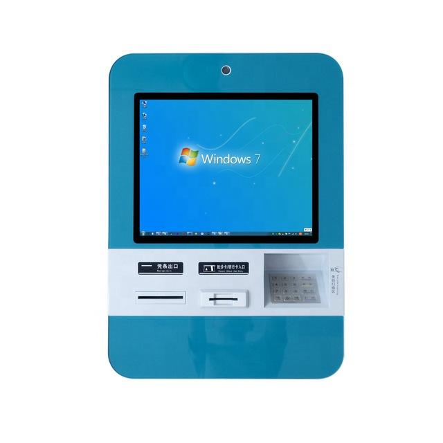 China kiosk manufacturer smart wall mounted cash payment Kiosk