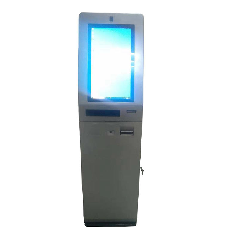 digital signage hotel kiosk with card dispensing function