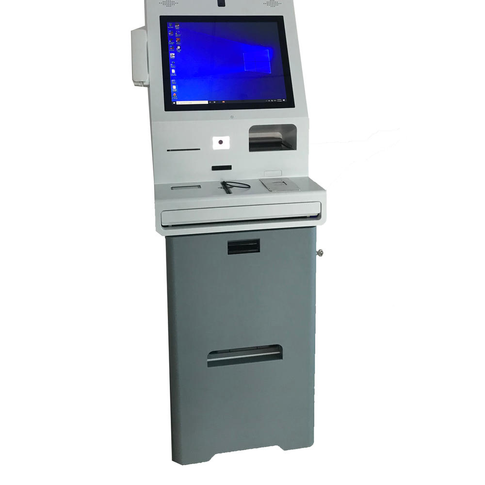 Industrial PC Hotel Check in Kiosk With RFID Encoder