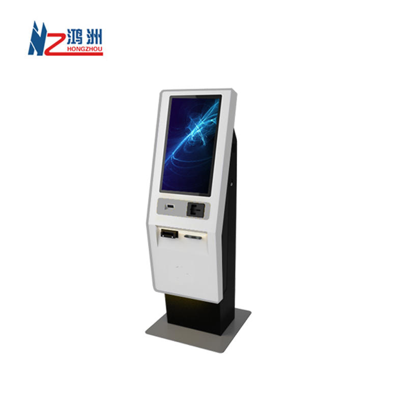 19 inch all-in-one automated hotel check in and check out kiosk