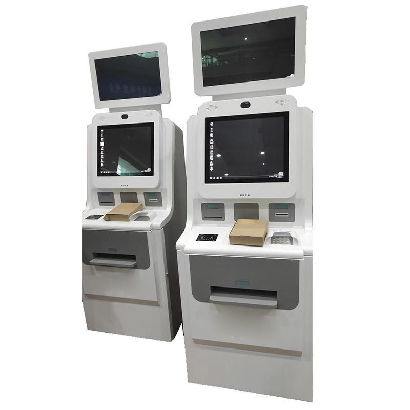 Hospital Indoor Cash Payment Machine Touch Screen Cash Acceptor Kiosk