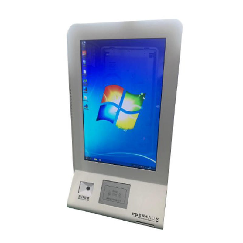 digital signage interactive hospital clinic kiosk with printing swiping bank card customizable card