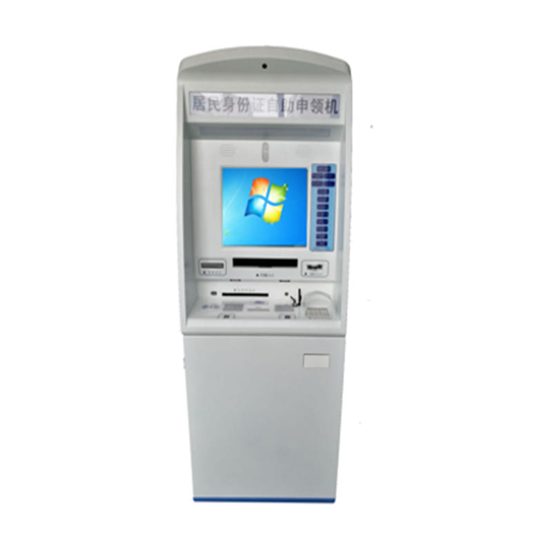 Interactive E-Goverment Kiosk with printing QR code scanner
