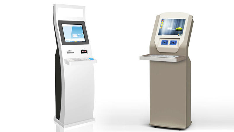 Touchscreen interactive receipt payment all in one kiosks with bill dispenser function for cash payment