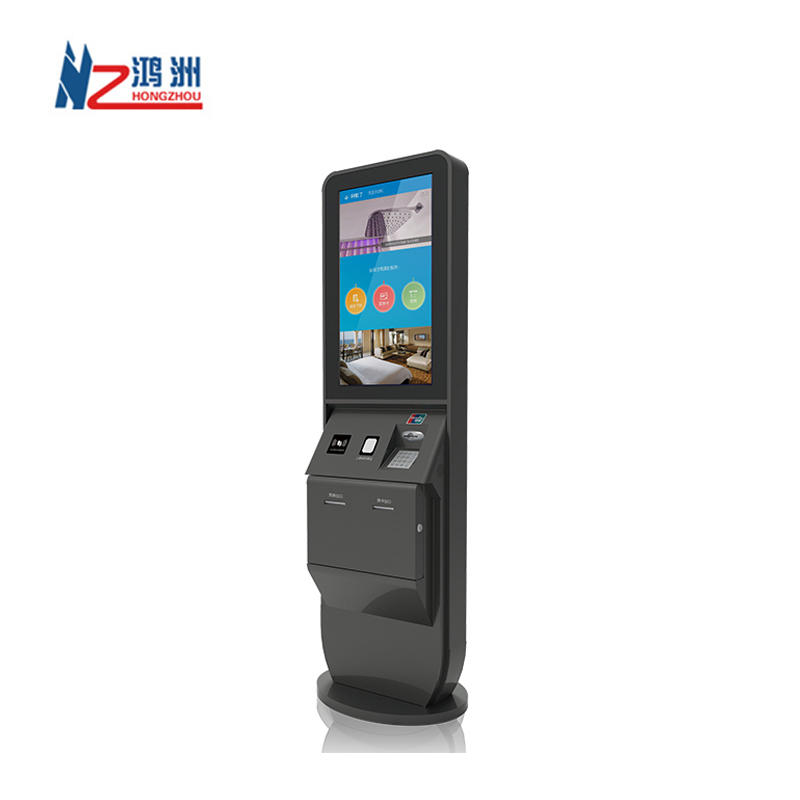 HD dual screen lobby bill payment kioskwith scanner for restaurant