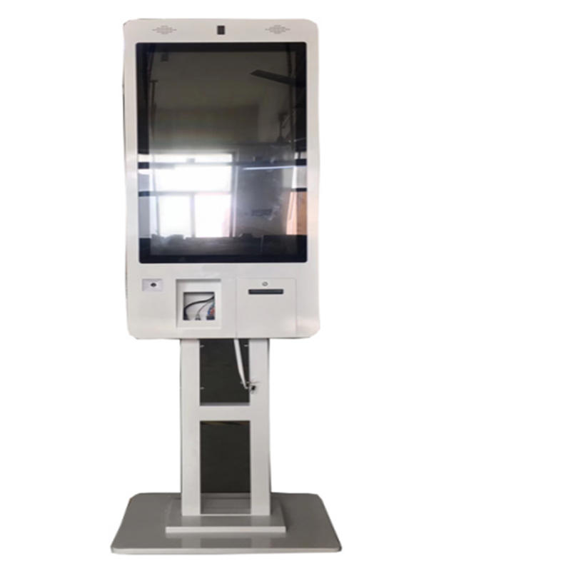resaurant quick food online self ordering kiosk with 21.5'' touchscree display