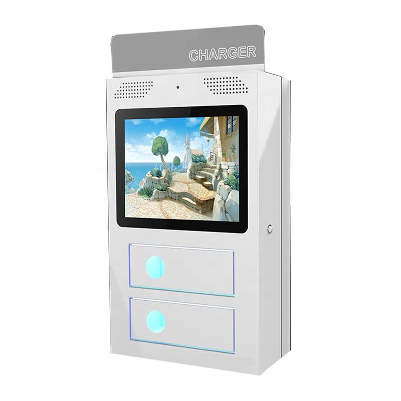 OEM self service mobile charge kiosk with advertising function in airport and shopping mall