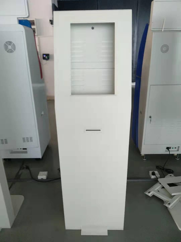 standing smart digital signage self service order kiosk cabinet with receipt printing