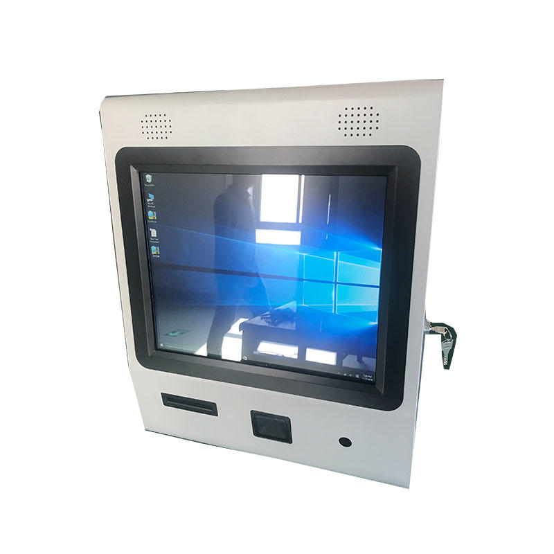 Multifunction 19 inch touch screen wall mounted payment kiosk with bar code scanner