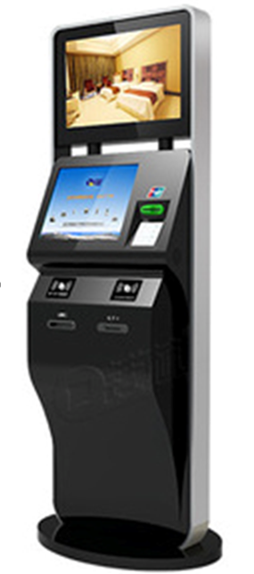 standing movable ticket printing Kiosk