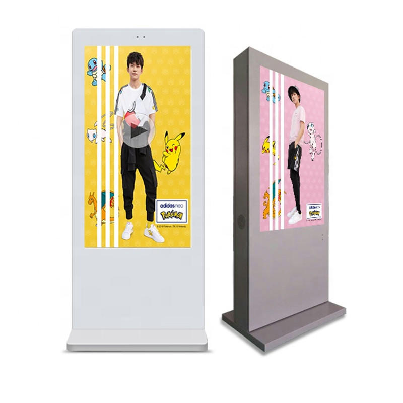 55 inch floor standing Outdoor Advertising Player/lcd digital signage with high brightness