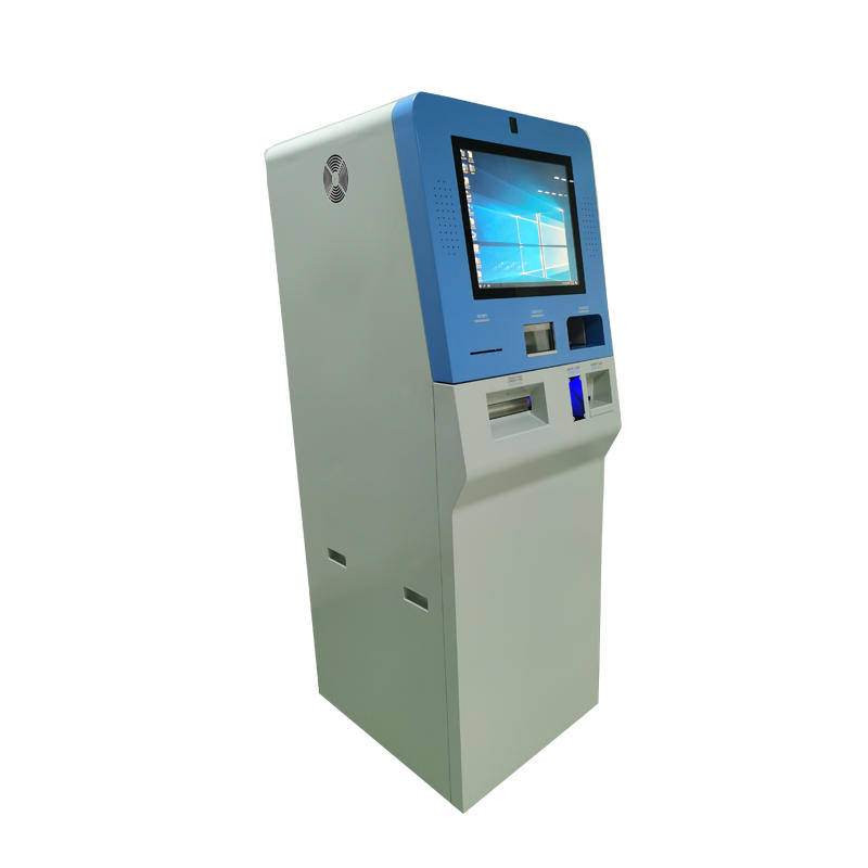 High quality cash exchange ATM kiosk with camera and passport scanner in airport