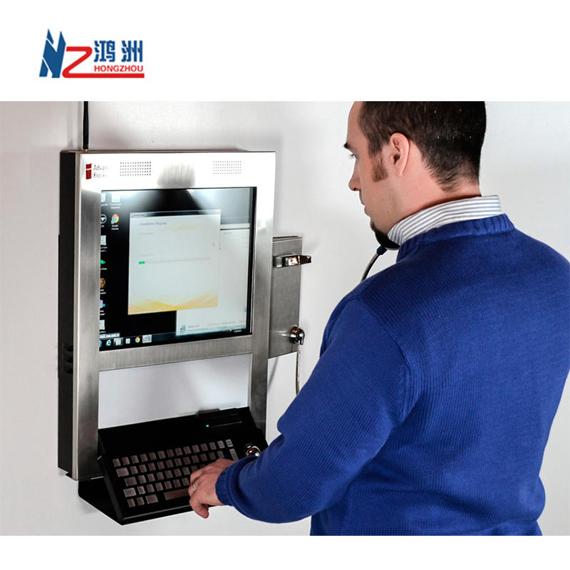 10.1 inch Wall Mounted Kiosk for ATM Cash Acceptor