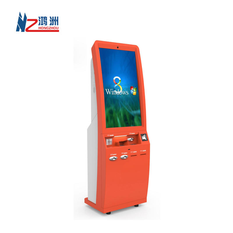 WIFI touch screen atm kiosk machine with A4 laser printer