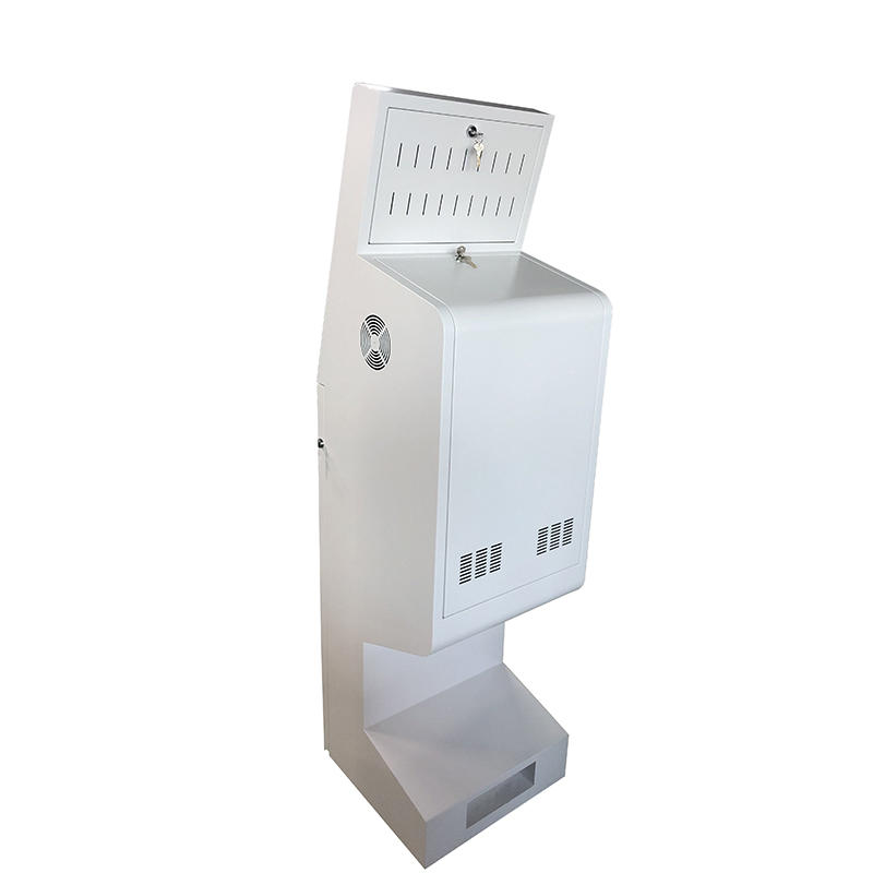 Floor Stand Kiosk with A4 Paper Printer LCD Display WiFi Network