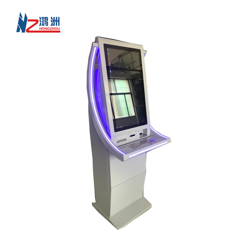 24 inch touch screen cash exchange kiosk in hotel with LED light and elegant design