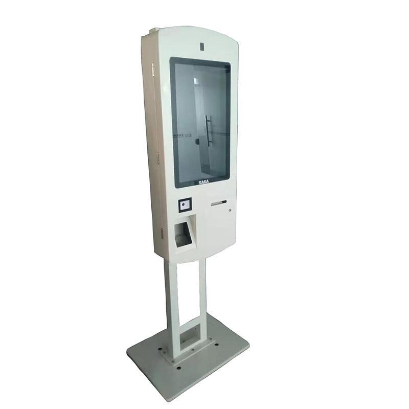 standing smart digital signage self order kiosk for restaurant with receipt printing function