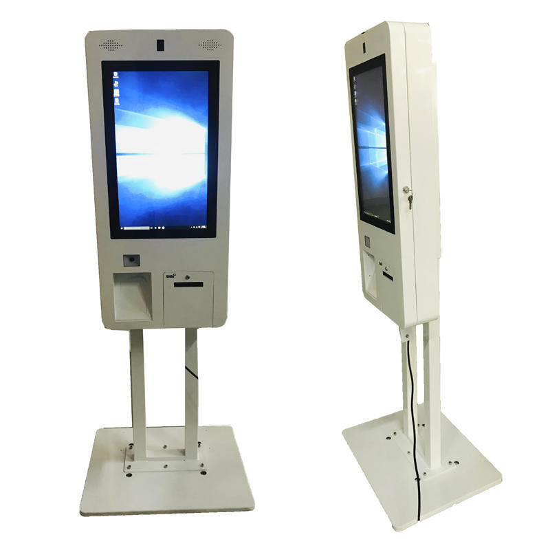 32 inch Restaurant Automatic Kiosk Touch Screen Ordering Kiosk With POS Terminal