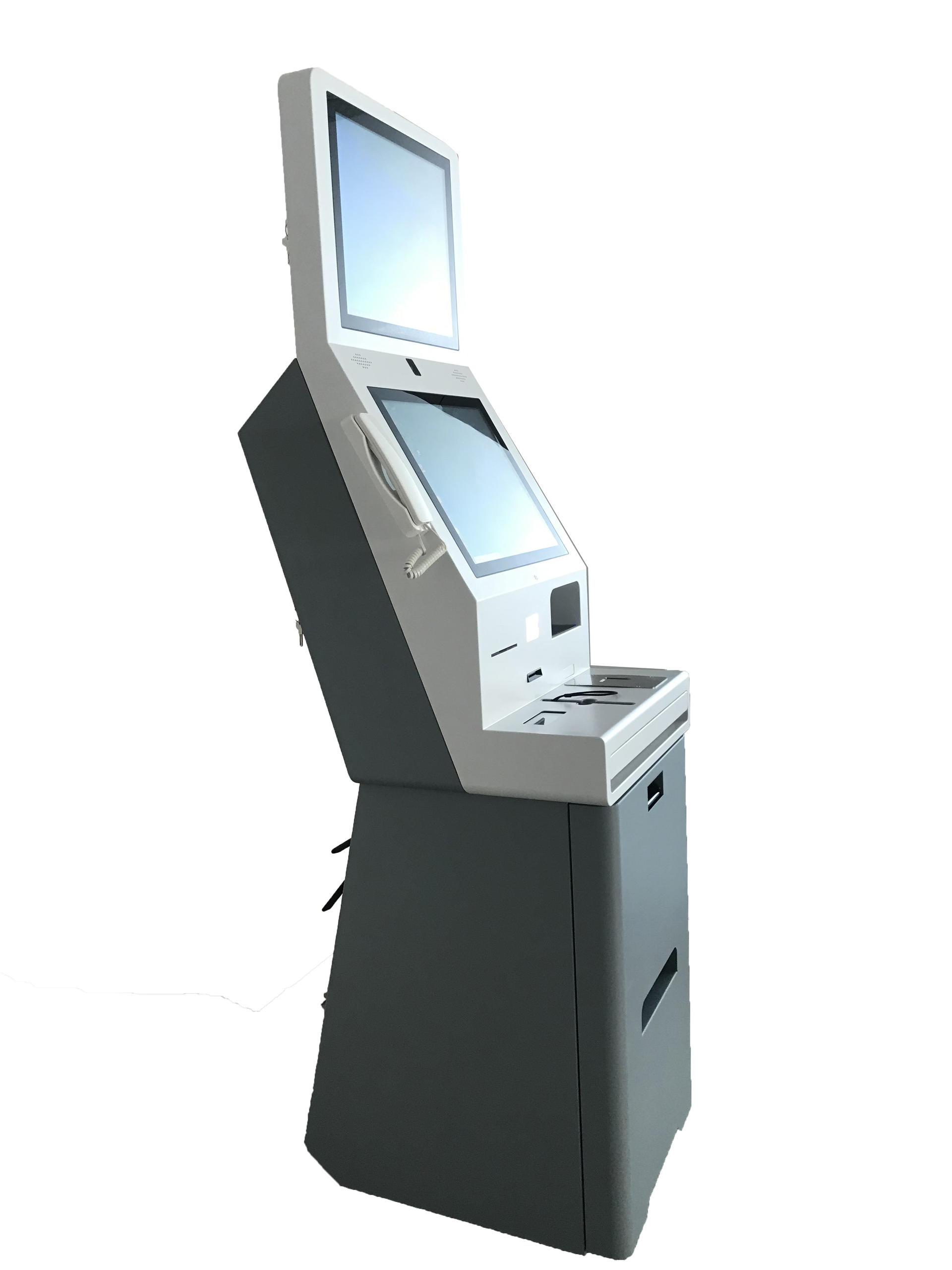 Hotel Self service payment kiosk with room card dispenser