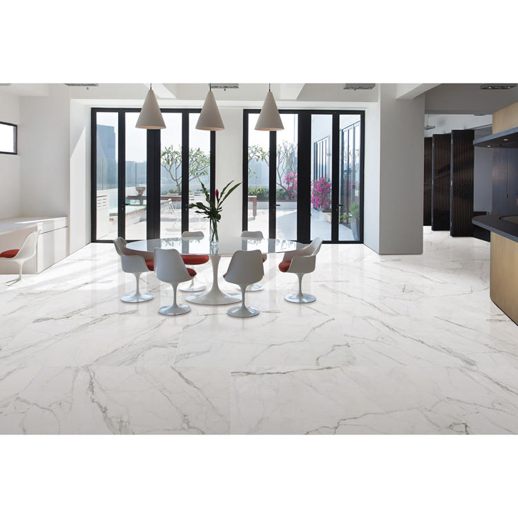 White floor tiles ceramic porcelain