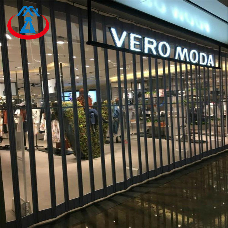 High security transparent plastic material PC polycarbonate folding shutter door from China
