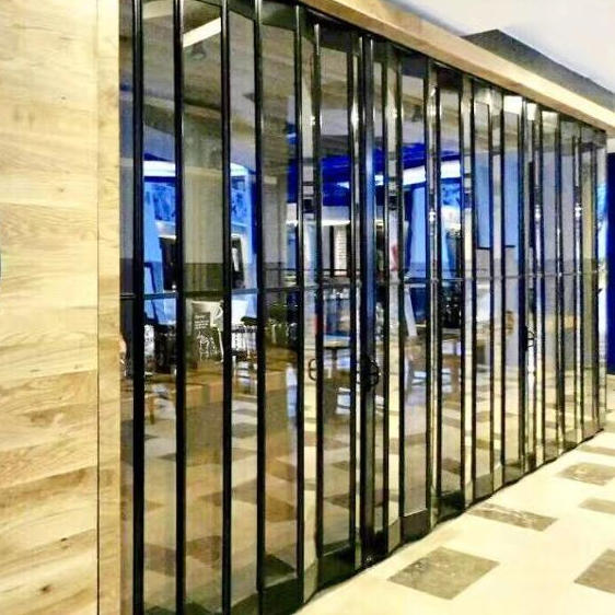 Manual Beautiful Appearance Polycarbonate Folding Door for Shopping Mall and Market