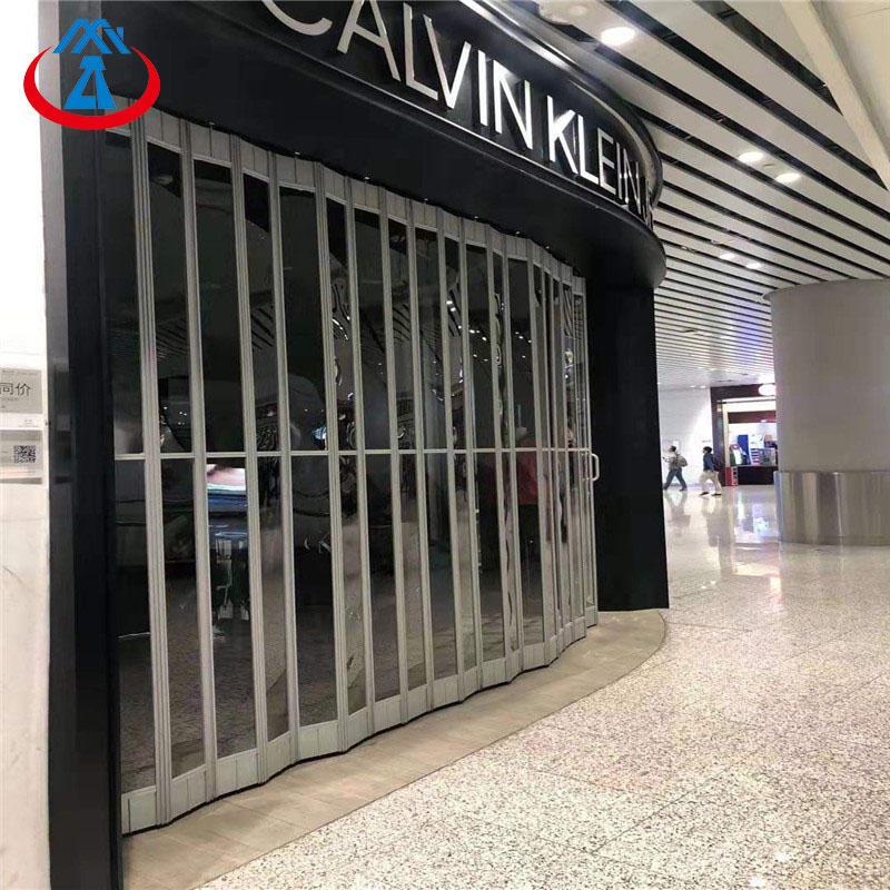 Commercial Large Safety Polycarbonate Folding Door for Shop Free N95 Mask