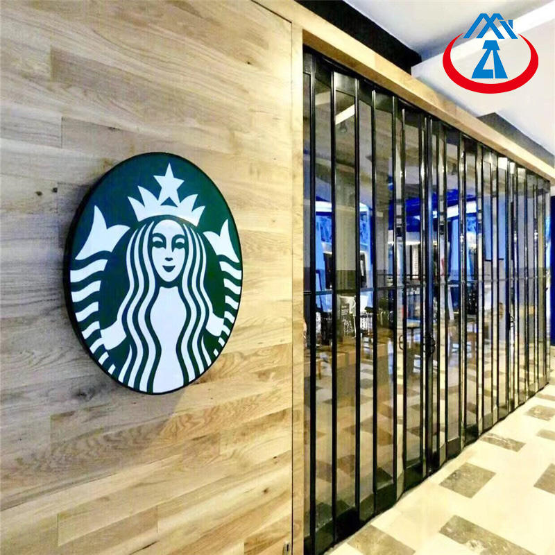 2500*2000mm Shopping/shopping mall PC crystal folding door