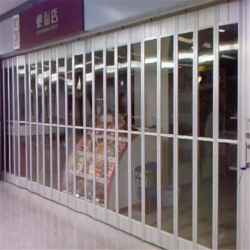 3m*2.5m Polycarbonate folding door transparent folding door aluminium bifolding door