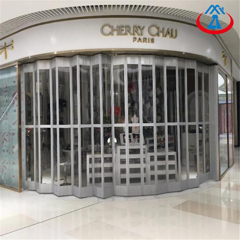 Commercial Shop Transparent Polycarbonate Sliding Door Durable PC Folding Door