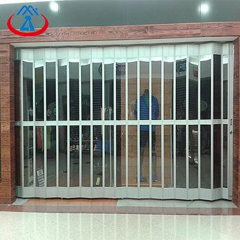 Side Folding Polycarbonate Shutter Door for Shopping Center