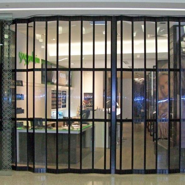 Commercial Transparent Aluminium FramePolycarbonate FoldingDoors