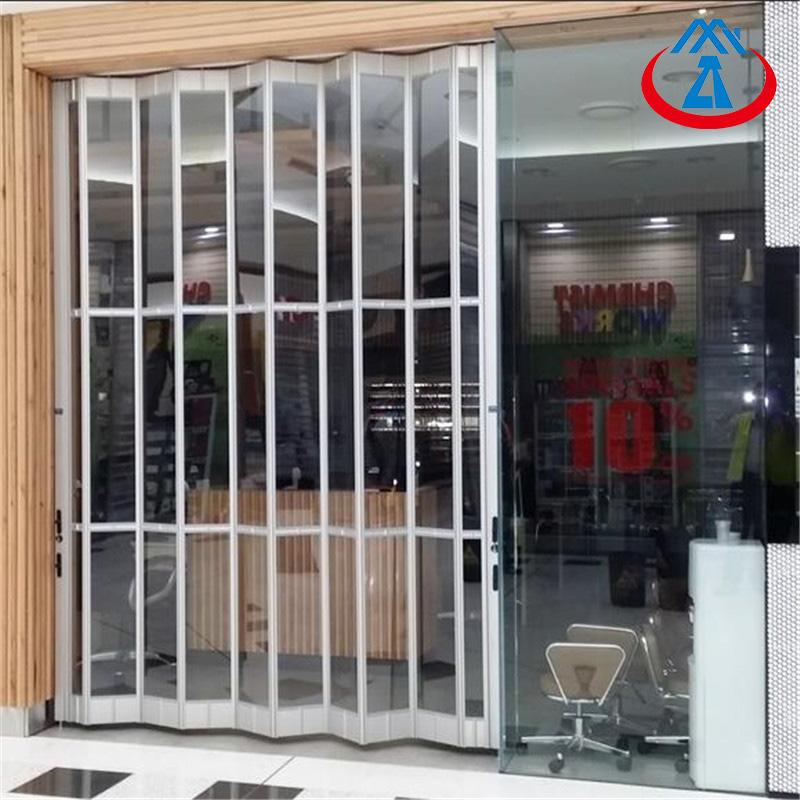 2500*2000mm Fashion Aluminum Sliding Folding Door PC Door For Shop