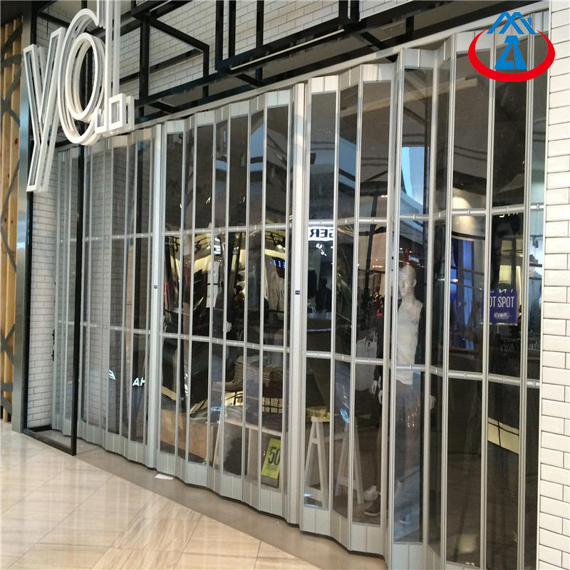 2500*2000mm Bi fold Doors Transparent Polycarbonate Folding Door For Sales