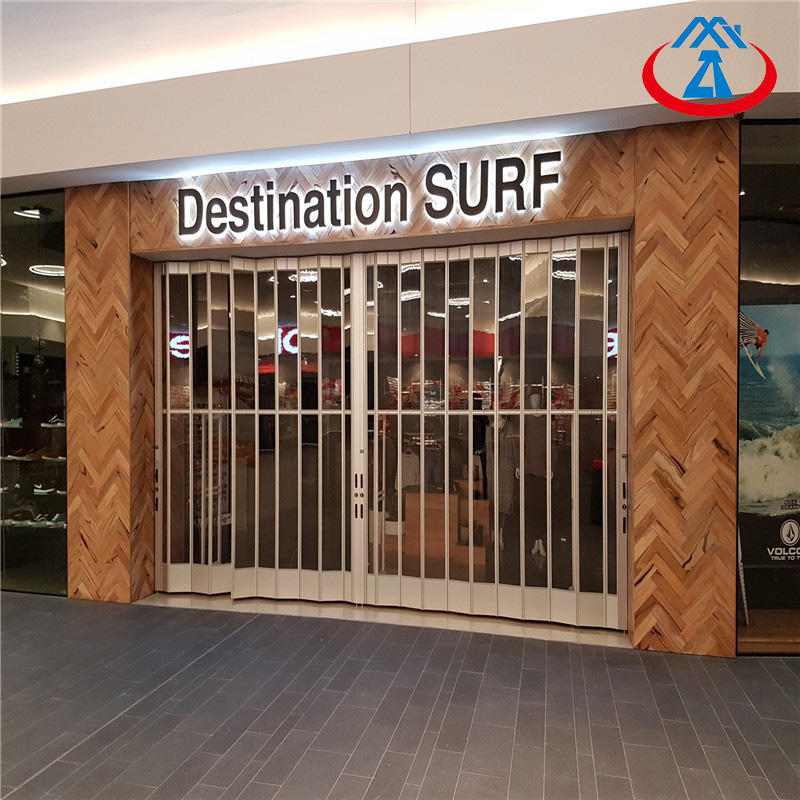 Commercial Fashionable Security PC Crystal Clear Folding Door From China
