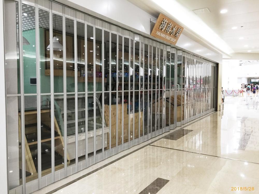 Commercial Polycarbonate Crystal Accordion Door Folding DoorFor Hot Sale