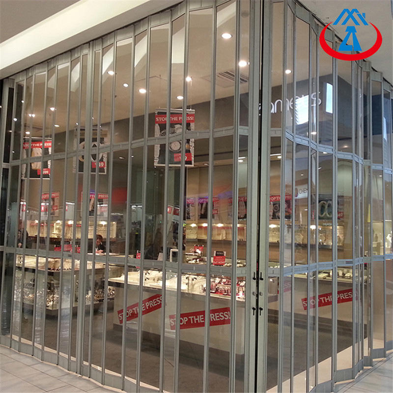Commercial Shop Transparent Polycarbonate Sliding Door Durable PC Folding Door