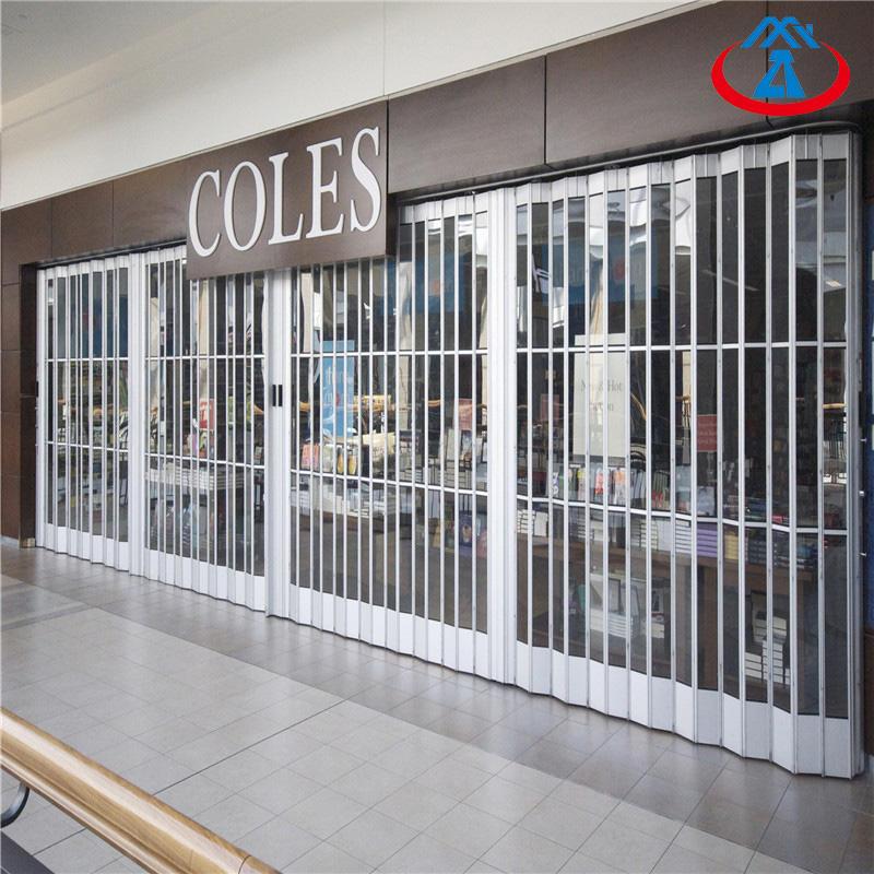 2500*2000mm Polycarbonate Folding Door Manufacturer High Performance Crystal PC Door
