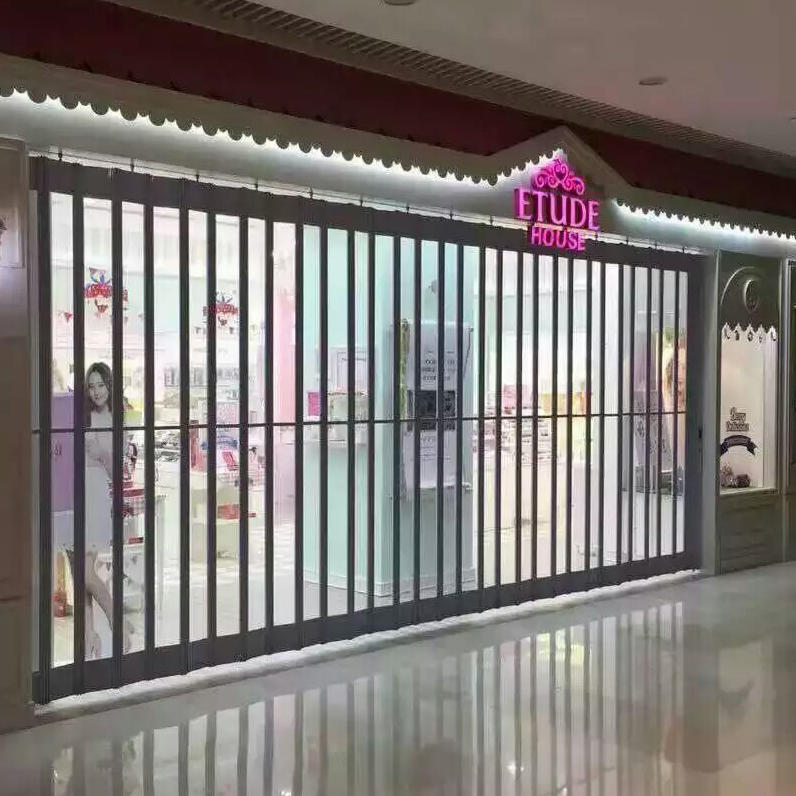 Horizontal Top Quality 24 hours display easy to install Polycarbonate Folding Door