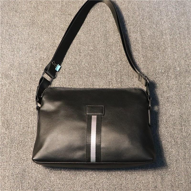 venta de fabrica varios bolsos de cuero con cremallera para hombre solo hombro