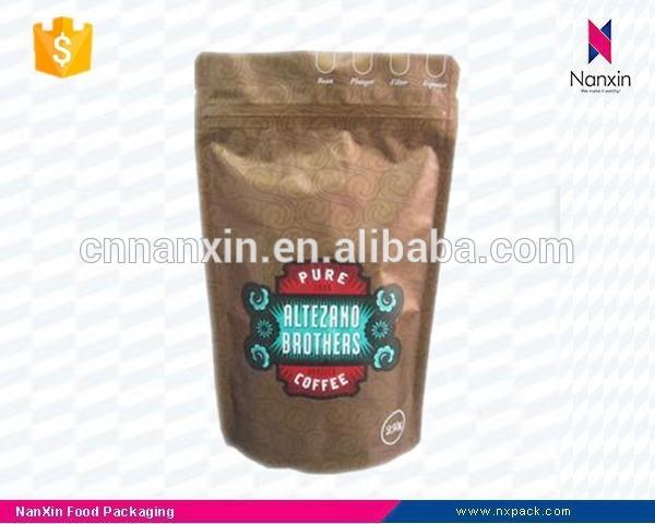 resealable stand up pouch coffee packaging bag