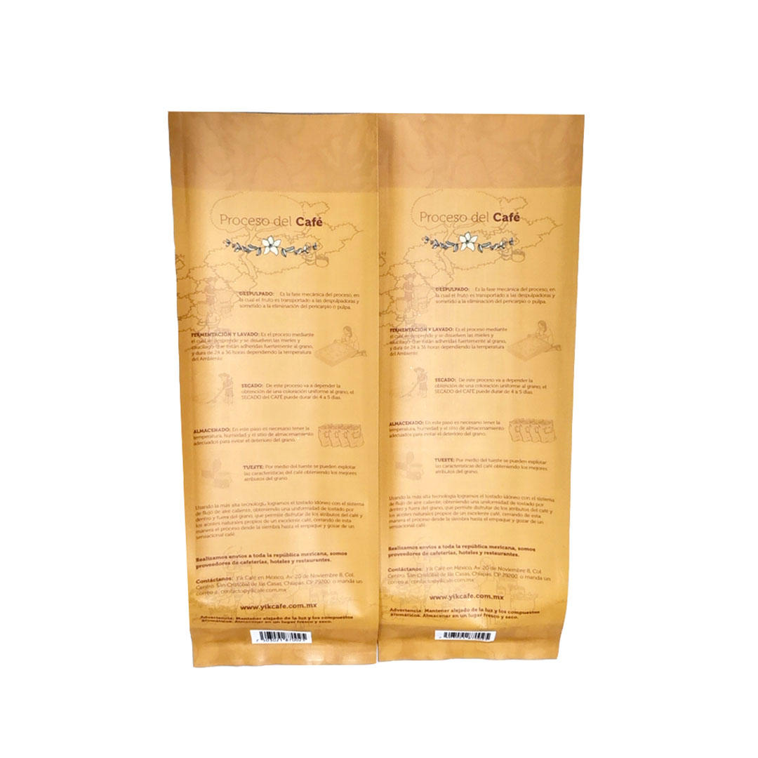 250g Kraft paper Side gusset for Cafe Coffee bean